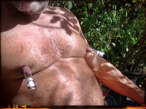 Photo. Outdoor Nipple Pumping