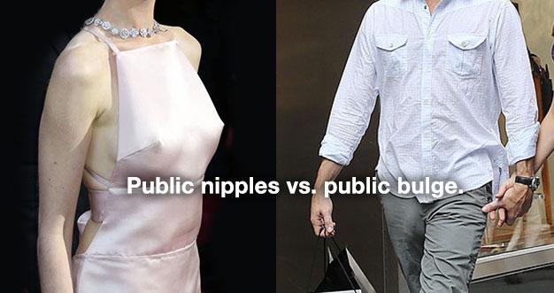 public nipples vs public bulge